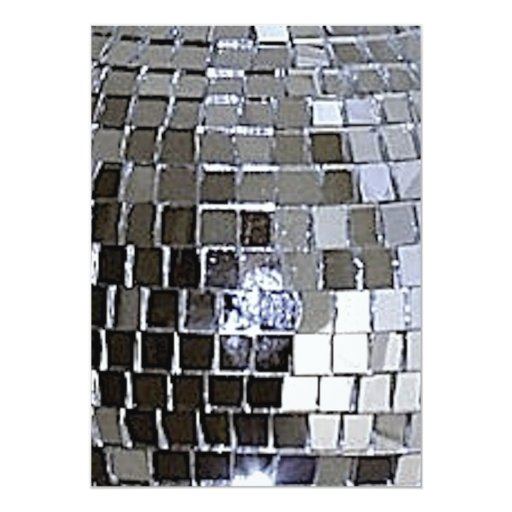 Silver Disco Ball Personalized Announcements