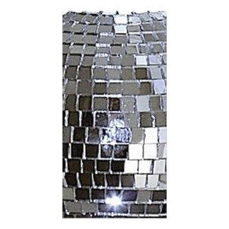 Silver Disco Ball Personalized Photo Card