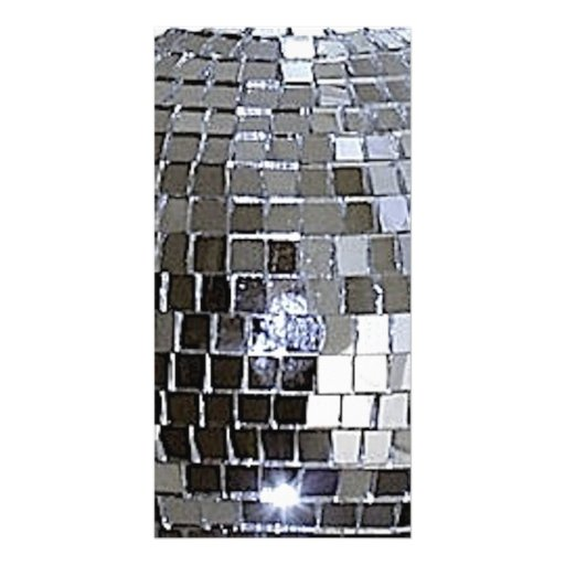 Silver Disco Ball Personalized Photo Card
