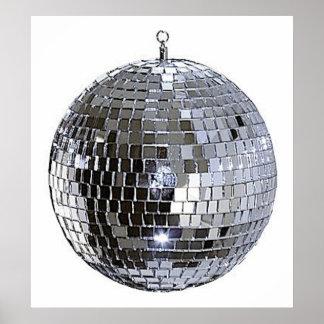 Silver Disco Ball Poster