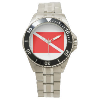Silver Dive Flag Watch