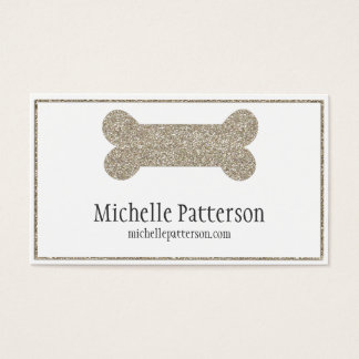 Silver Dog Bone Business Card Design