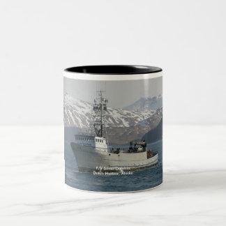 Silver Dolphin, Crab Boat in Dutch Harbor, Alaska Two-Tone Coffee Mug