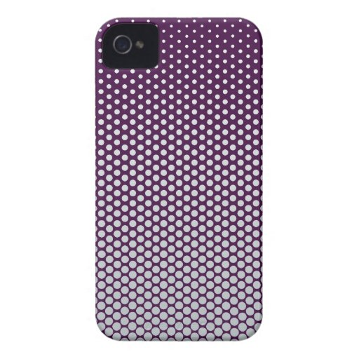 Silver dots on ANY color custom Blackberry case