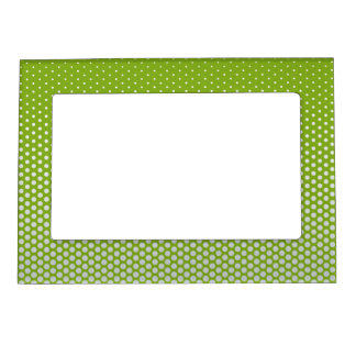 Silver dots on ANY color custom picture frame Frame Magnet