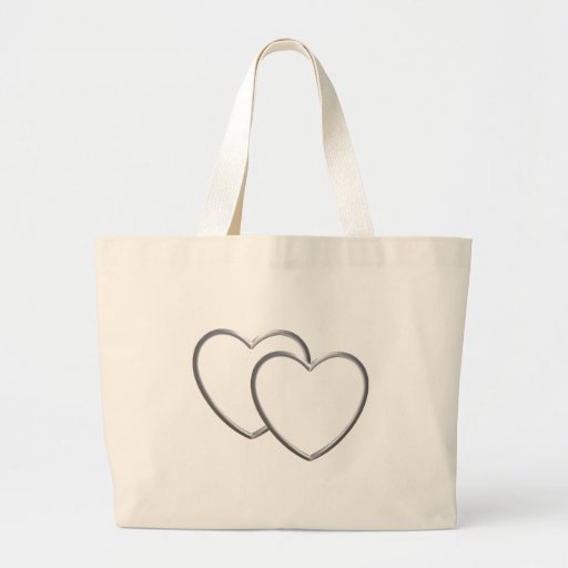 Silver Double Hearts Bags