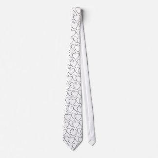 Silver Double Hearts Tie