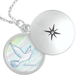 Silver Dove Rainbow Survivor 1 Necklace