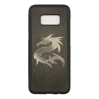 Silver Dragon Carved Samsung Galaxy S8 Case