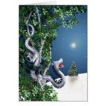 Silver Dragon Christmas Card