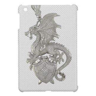 Silver Dragon Print iPad Mini Case