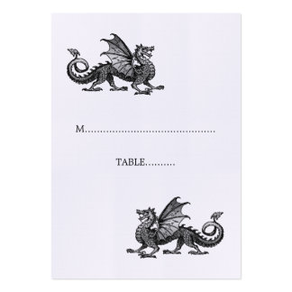 Silver Dragon Wedding Place Card Pack Of Chubby Business Cards