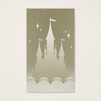 Silver Dreamy Castle In The Clouds Starry Sky