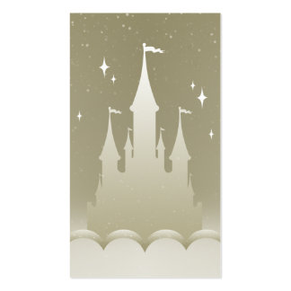 Silver Dreamy Castle In The Clouds Starry Sky Pack Of Standard Business Cards