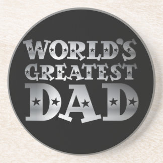 Silver Effect Worlds Greatest Dad Coaster