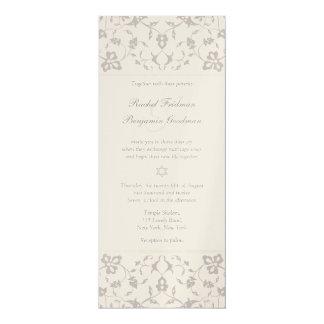 Silver Elegance - Jewish Wedding Invitation