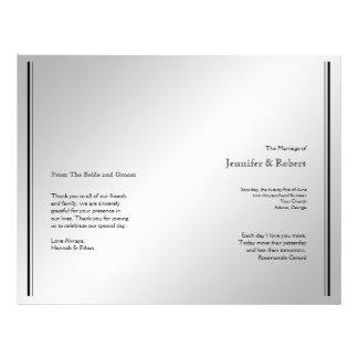 Silver Elegance Wedding Program Personalized Flyer