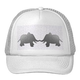 silver elephant - white trucker hat