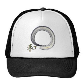 Silver enso with Kanji - harmony Cap