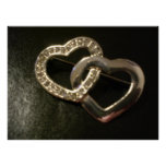 Silver entwined Love Hearts Posters