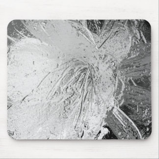 Silver Etched Cactus Flower Mouse Mat