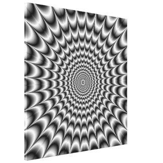 Silver Explosion Canvas Print