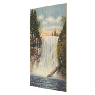 Silver Falls on Silver Creek Oregon View Gallery Wrapped Canvas