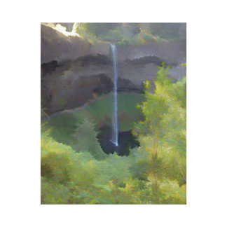 Silver Falls Stretched Canvas Print