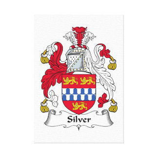 Silver Family Crest Canvas Print