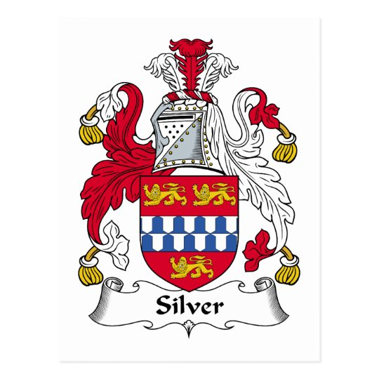 Silver Family Crest Postcard