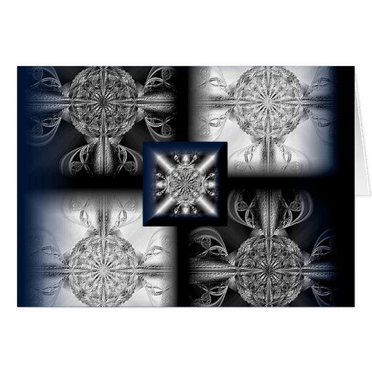 Silver Fantasy ~ everyday all occasion fractal art Card