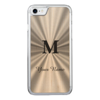 Silver faux metallic monogrammed carved iPhone 8/7 case