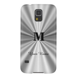 Silver faux metallic monogrammed case for galaxy s5