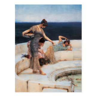 Silver Favorites by Lawrence Alma-Tadema Postcard