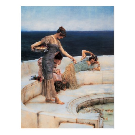Silver Favorites by Lawrence Alma-Tadema Post Cards