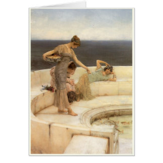 Silver Favourites by Sir Lawrence Alma-Tadema Greeting Card