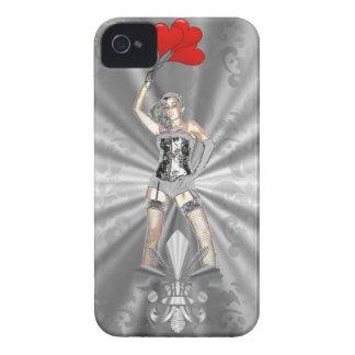Silver female iPhone 4 case
