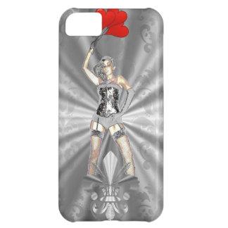 Silver female iPhone 5C case