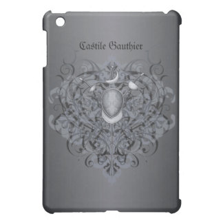 Silver Fencing Swords Black Scroll  Case For The iPad Mini