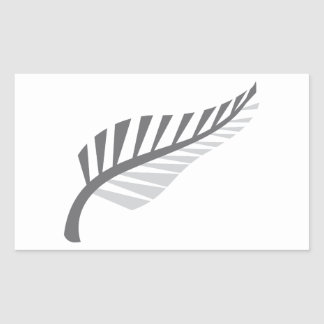 Silver Fern Awesome New Zealand image Rectangular Sticker
