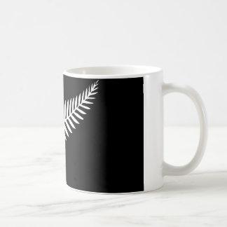 Silver Fern Flag (New Zealand) Basic White Mug