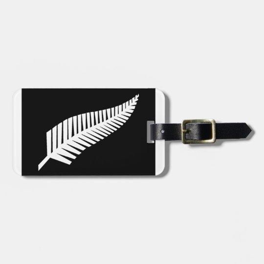 Silver Fern Flag of New Zealand Bag Tag