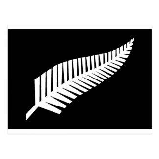 Silver Fern Flag of New Zealand Postcard