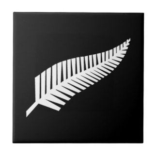 Silver Fern Flag of New Zealand Tile