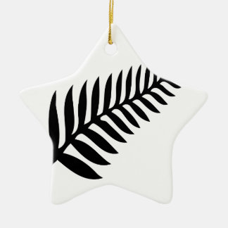 Silver Fern of New Zealand Christmas Ornament