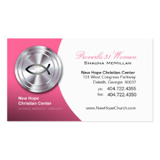 Silver Fish IXOYE Christian Symbol Minister/Pastor Pack Of Standard Business Cards