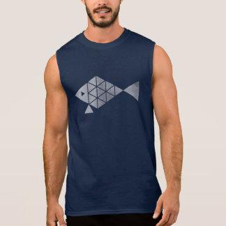 Silver fish men's sleeveless tshirt