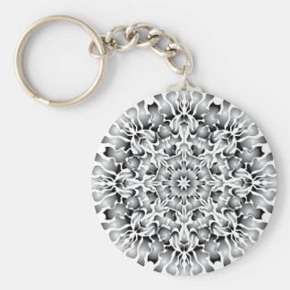 Silver Flame Keychain