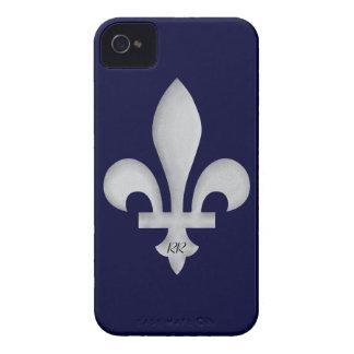 Silver Fleur-de-Lys on Blackberry Bold Case