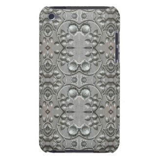 Silver Flowers - Pattern Barely There iPod Cover